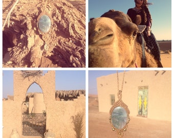 Sahara desert dream inspiration necklace 1001 nights beautyful deep power crystal bohemian jewelry gipsy necklace