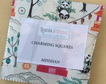"Pack Minshan ""DISCOUNTED PRICE"" 5 inch Charm Charming Squares Lewis & Irene Patchwork Quilting Sewing"