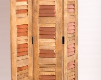 Room divider design copper wood
