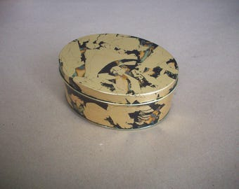 gilded metal tin container