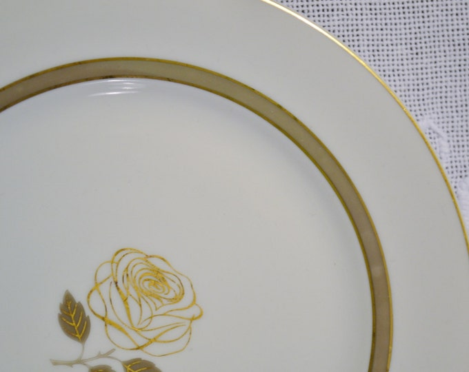 Vintage Rosenthal Rosenthal Rose Bread Dessert Plate Gold Rose Design Germany Replacement Panchosporch