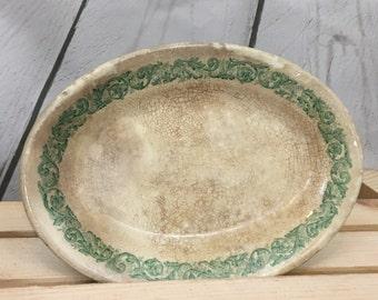 Vintage porcelain waldorf Hanley J&G Meakin England soap dish filligree design