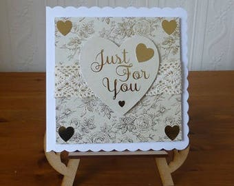 Wedding Day Just For You Wedding Day Card