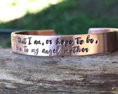 CUSTOM COPPER CUFF - hand stamped - your quote
