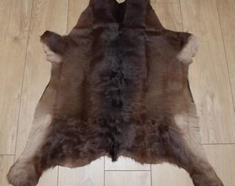 Western Calf Hide - Beautiful Black & White Reddish - Luxurious Cowhide Rug - Approx 81 Cm X 76 Cm - B63