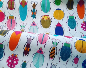 Bugs and beetles pattern tea towel by MaggieMagoo Designs, unique gift idea