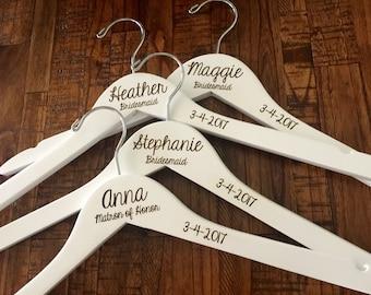 SALE Engraved Bridesmaid Hanger, Bride Hanger, Name Hanger, Wedding Hanger, Personalized Bridal hanger, Bridal Gift, name hanger