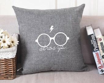 Harry Potter - Always + Glasses + Scar - Pillow Cover - Pillowcase - Pillow Sham