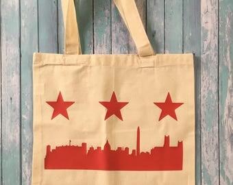 DC Flag Tote Bag, DC Skyline Tote Bag