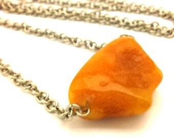Amber Baltic Necklace Genuine Natural Vintage 14.08 Gr Butterscotch Color