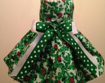 Lucky Lady Bug St. Patrick's Day Dog Dress