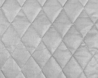 """43"""" Wide Quilted Heat Resistant Fabric (Therma-Flec) Per Yard - Silver"""