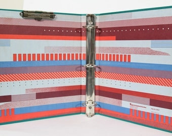 "Vintage Abstract 1980s 1990s Three Ring Binder 1.5"" Majestic Office Supply"