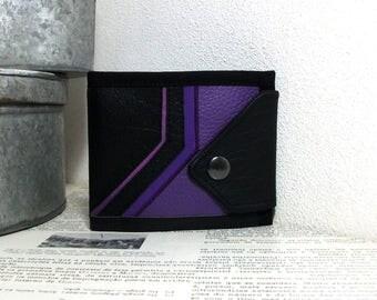 Oblique, Handmade Personalized Wallet, Plaid, Vegan Friendly, Vegan Leather Wallet, Mens Wallet, Womens Wallet, Billfold, Bifold, UNUSUAL