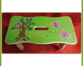 Butterfly footstool with Namesgravur
