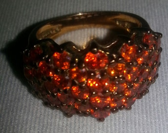 SALE! Gorgeous Vintage Tangerine Ring