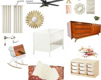 E-Design Custom Digital Room Board Kitchen, Living Room, Bedroom, Bathroom, Office, Playroom,