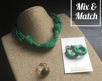 Choker, Earrings and Adjustable Ring MIX and Match set