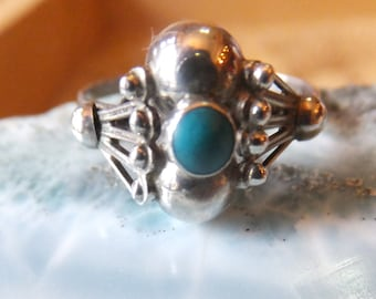 Turquoise and Sterling Silver Ring ...... size 9 only