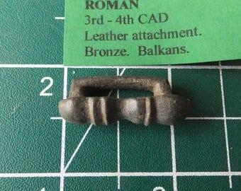 Roman Empire Bronze Leather Attachment