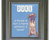 Funny Boxer Wall Art / Personalized Gifts / Boxer Art Print / Funny Dog Art / Pet Lover / Home Decor / Boxer Poster / Boxer Dog Gift