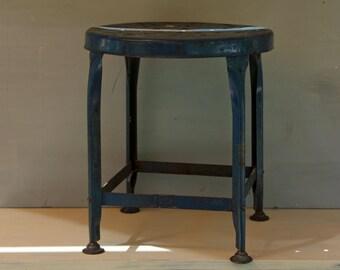 Blue Industrial Metal Stool Toledo UHL Draftsman Stool Industrial Decor Metal Furniture & Industrial stool | Etsy islam-shia.org