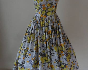 RESERVED. 50's Horrockses Dress. Oranges and Lemons.