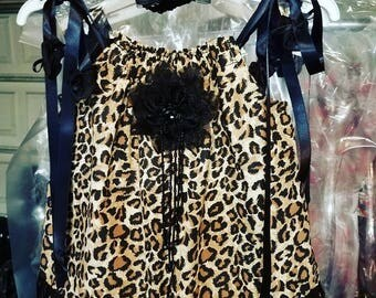 Baby Flapper, Picture Dress, Leopard Print