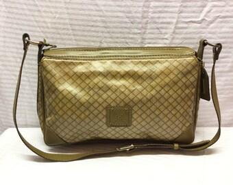 I. Santi, Shoulder Bag, Tan, Purse, Bag, PVC, Leather
