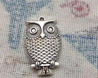 SALE 20 PCS 18x28mm Antique Silver Lovely The little owl Charm Pendant owl Antique Bronze