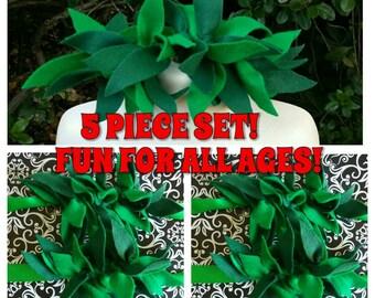 5 PIECE SET! Lilo Inspired Accessories, Lilo Headband, Lilo Wrist Cuffs, Lilo Ankle Cuffs, Lilo Accessories, Lilo Costume