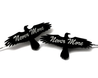 Nevermore gothic raven Hair Clips