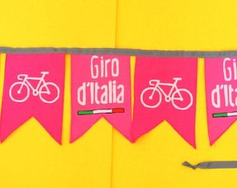 Cycle Giro d'Italia  Celebration Garland Bunting Decoration Wall hanging