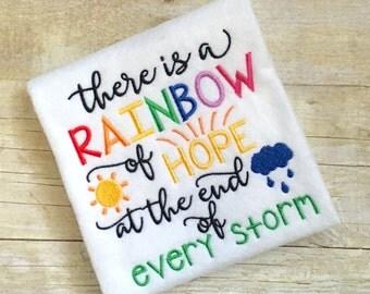 Rainbow Embroidery Design - Rainbow Baby Embroidery Design - Inspirational Embroidery Design - Embroidery Saying - Rainbow of Hope