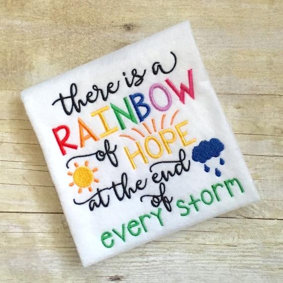 Rainbow embroidery design baby