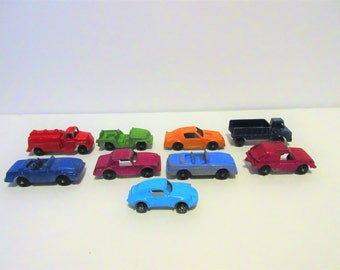 Vintage Tootsie Lot 9 Toy Diecast Metal Cars