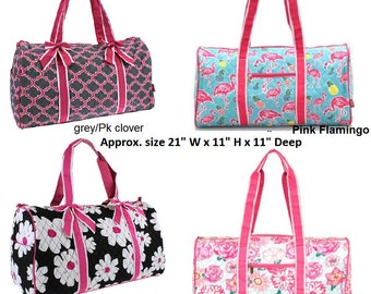personalized Quilted Duffle Bag in great new styles and colors -