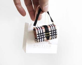 British Mega plaid mini handbag