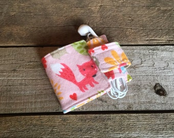 Wallet and Earbud Holder: Woodland Creatures