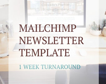 Custom MailChimp Newsletter Template Design