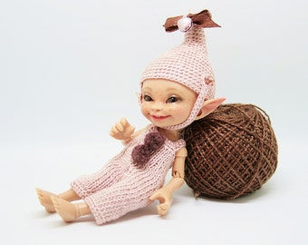 """Realpuki Knitted outfit """"Vintage Rose"""""""