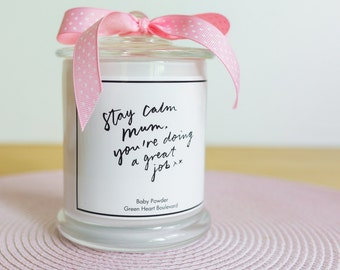 The Perfect Mum-To-Be Gift - Extra Large Baby Powder fragrance Candle