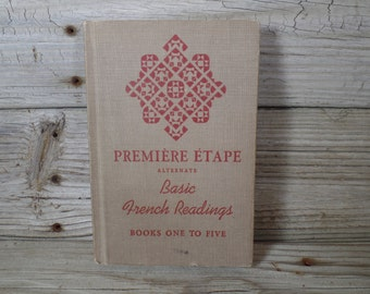 1940s Premiere Etape Alternate Basic French Readings Books One To Five Hard Cover Book French Poetry Eiffel Tower Learn French Language