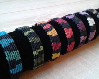 Woven macrame bracelets