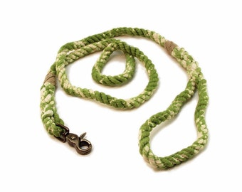 4 FT Earth Green Marbled Rope Dog Leash