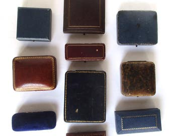 Ten (10) Small Antique Jewelry Boxes