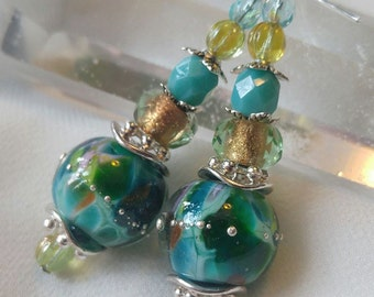 Teal Enchantment Earrings