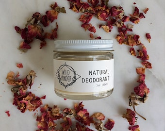 Natural Deodorant - Lavender and Rosewood - 2 oz