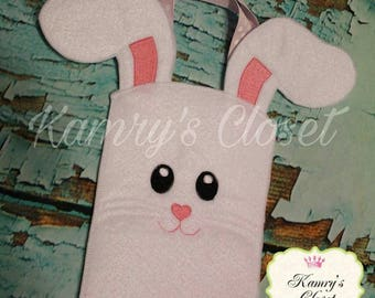 100% ITH - Bunny Bag - Easter - In the Hoop - Done in 3 hoopings - 4 x 4, 5 x 7, 6 x 10 and 8 x 12 sizes DIGITAL Embroidery DESIGN