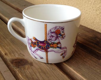Carousel Horse Mug, Carousel Horse Cup, Coffee Cup Teleflora, Horses Coffee Mug, Horses Tea Cup, Teleflora Horse Mug, Horse Lover Gift